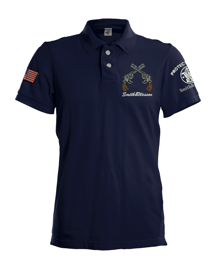 Shooting team usa polo shirt smith wesson protected for Custom polo shirts canada