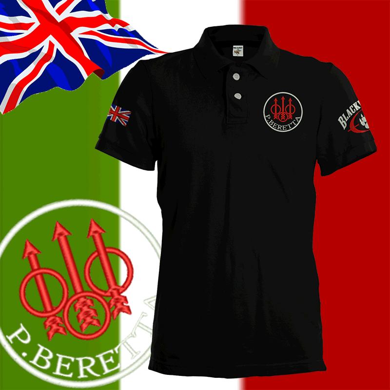 Beretta Sport Shooting Polo Shirt Uk S 3xl Team England