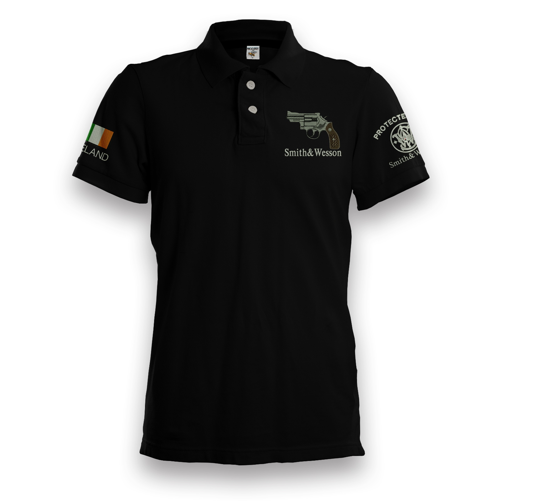Bkk Bargains Smith Wesson Embroidered Polo Shirt Plus Custom