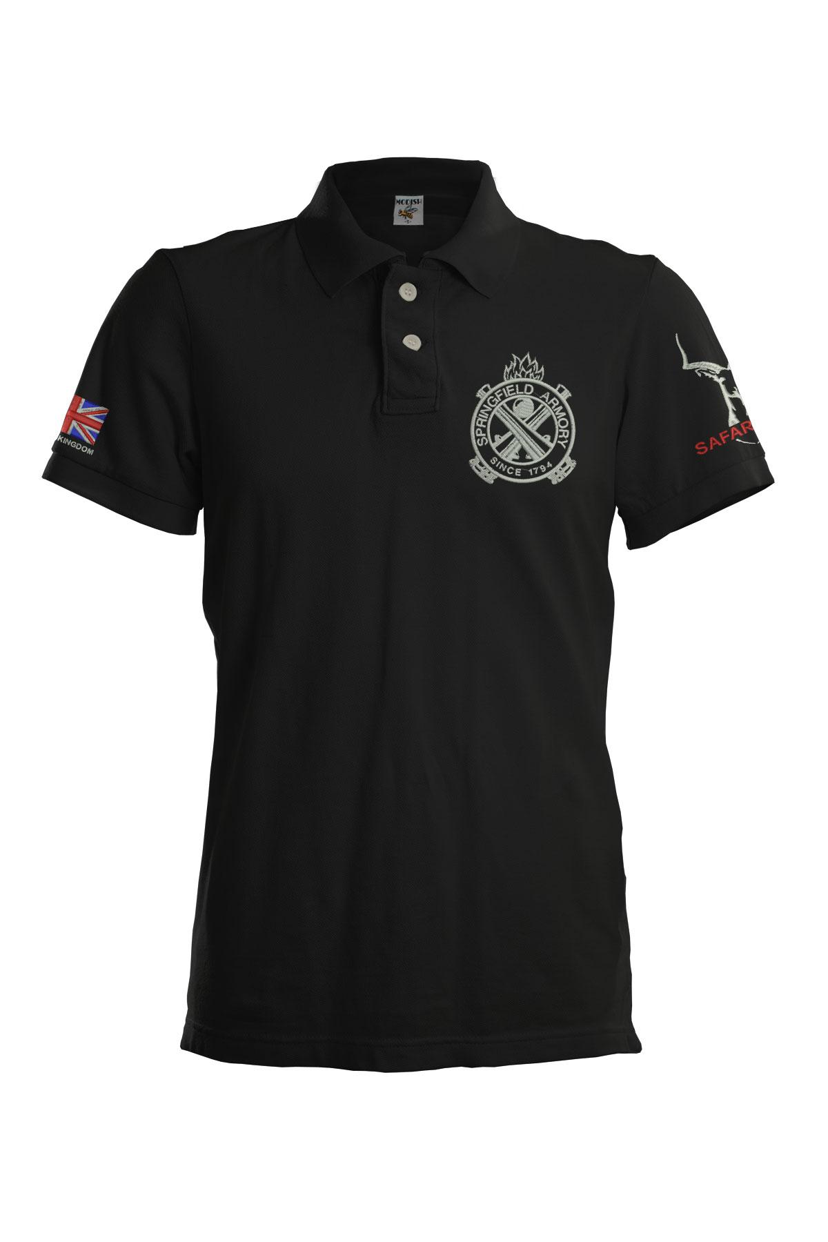 Bkk Bargains Springfield Armory Embroidered Polo Shirt Plus Custom