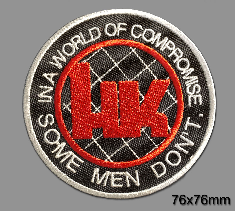 Hk Heckler /& Koch Iron on sustancia Patch-no compromise 01