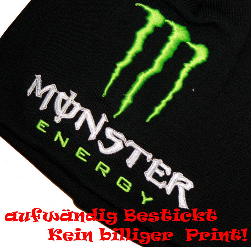 monster energy beanie cap m tze black schwarz ken rockstar. Black Bedroom Furniture Sets. Home Design Ideas