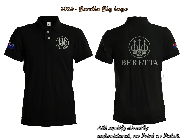 Beretta Embroidered Polo Shirt plus Custom Flag