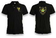 I.P.S.C. Embroidered Polo Shirt plus Custom Flag