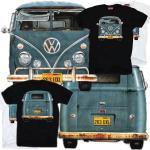 VW Van T-Shirt Split Screen Bus T1 Veedub classic Volkswagen Camper Bay Window