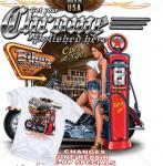 Biker T-Shirt USA Sexy Pin Up USA Route 66 Full Service Harley Chrome