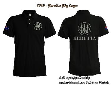 Beretta Embroidered Polo Shirt plus Custom Flag