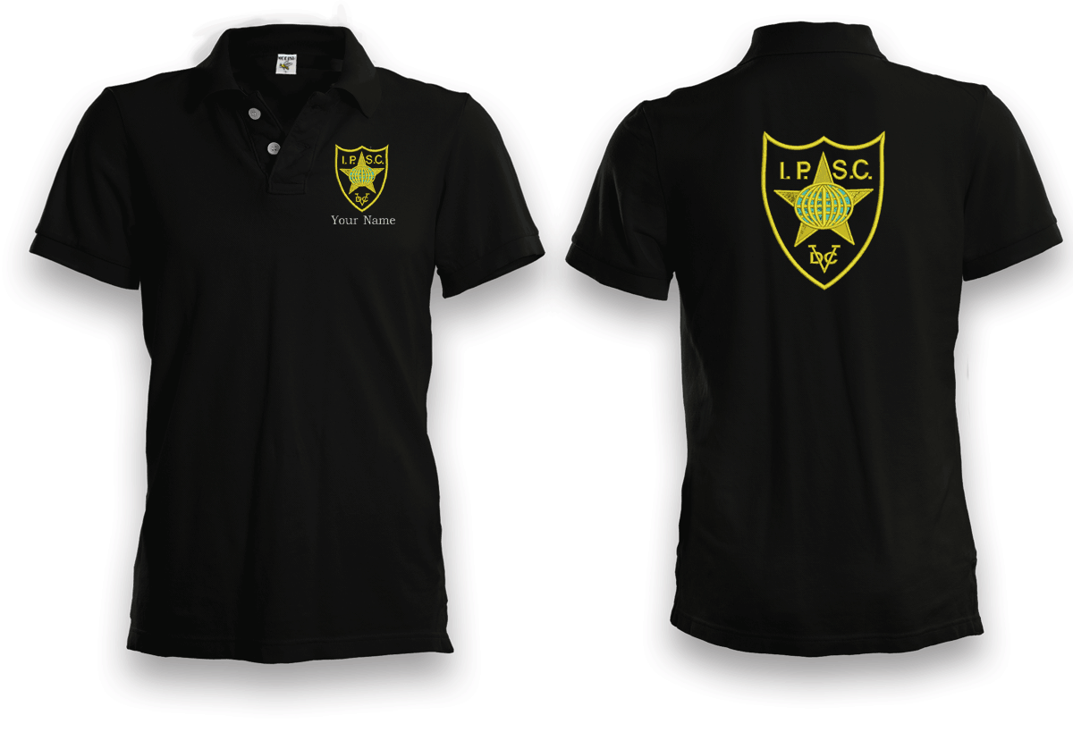 Bkk bargains i p s c embroidered polo shirt plus custom for Personalised embroidered polo shirts