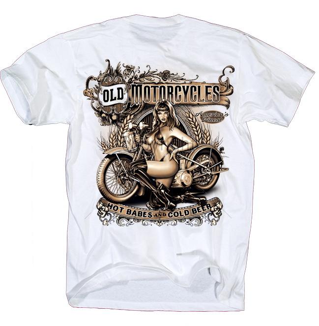 Bkk Bargains Vintage Biker T Shirt Route 66 Motorrad Pin Up Harley